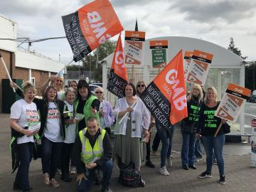 GMB union Asda members demonstrations